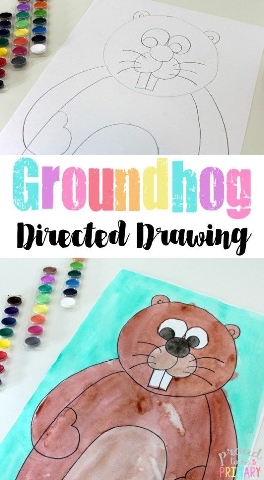 Groundhog Day Directed Drawing