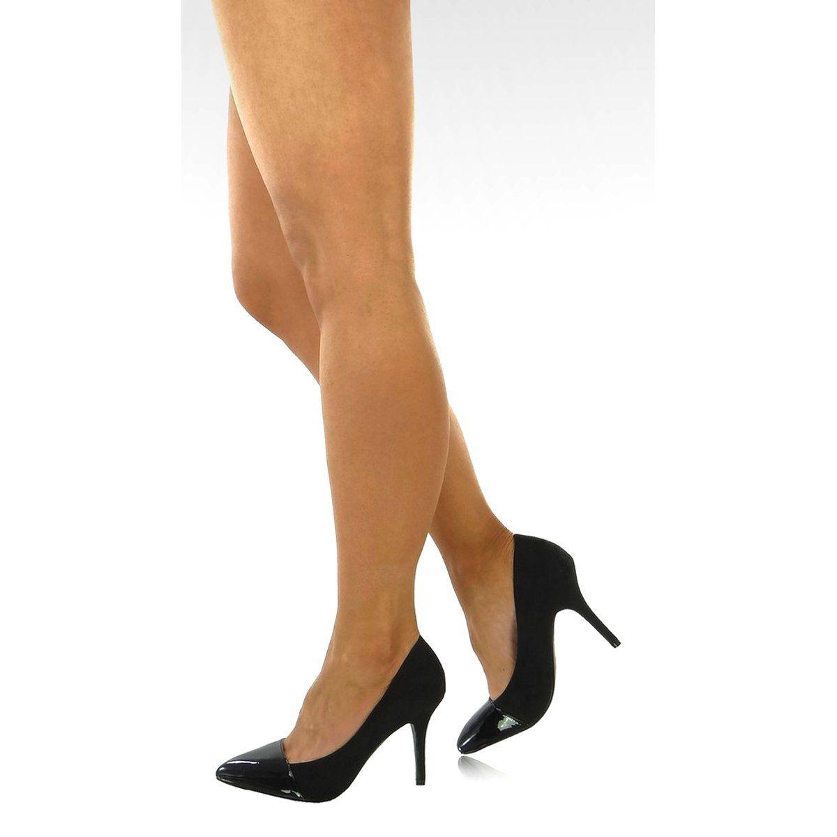 Szpilki Eleganckie 898 25 Es 1 Czarne Stiletto Heels Stiletto Heels