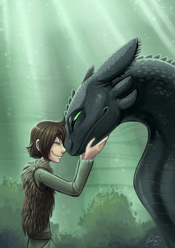 Hiccup and toothless forbidden friendship print  $5 00, via Etsy
