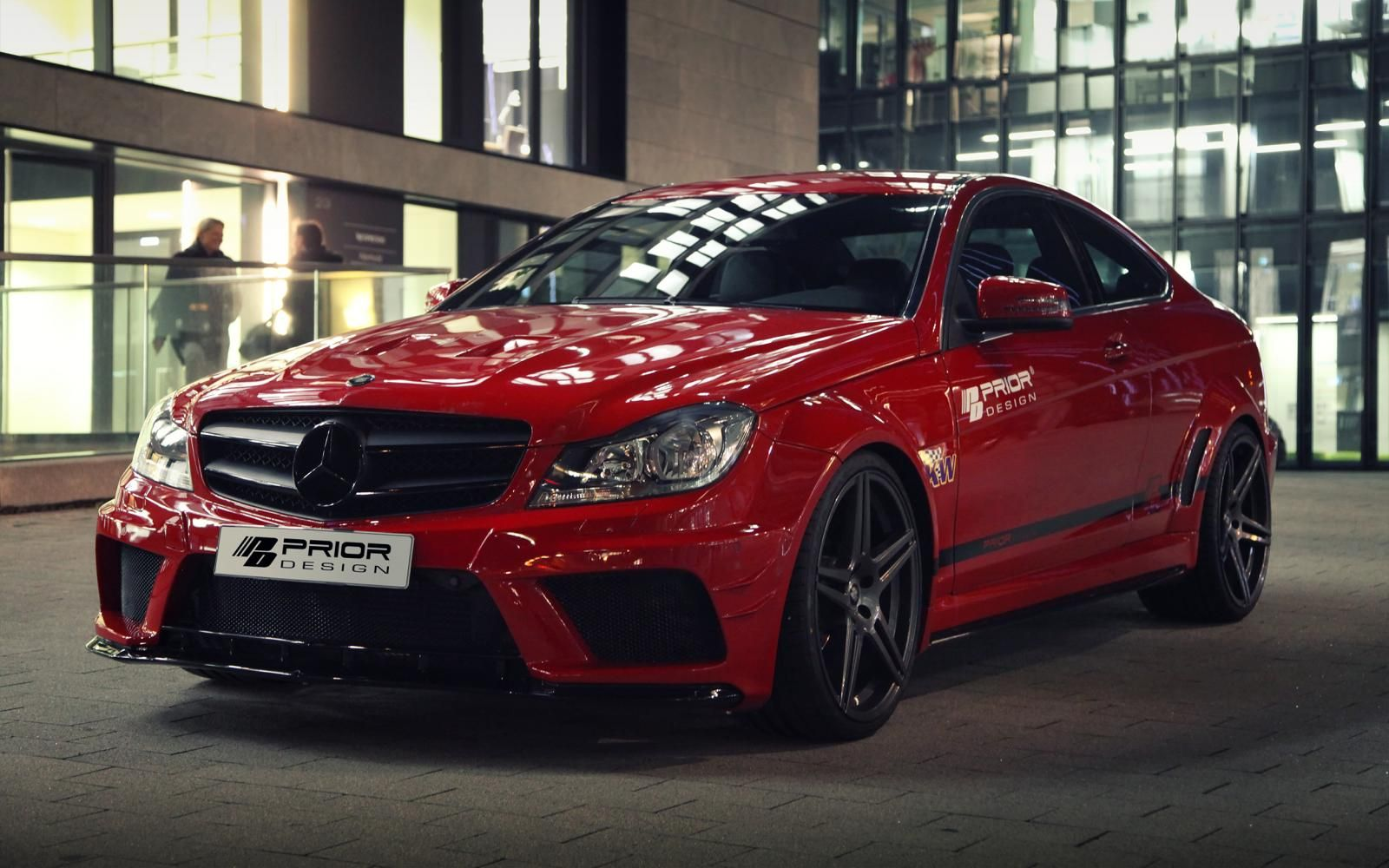 Black bison edition tuning package for the w204 mercedes benz c class - Automotivated Prior Design Mercedes Benz C Class Coupe Black Edition By Germancarscene