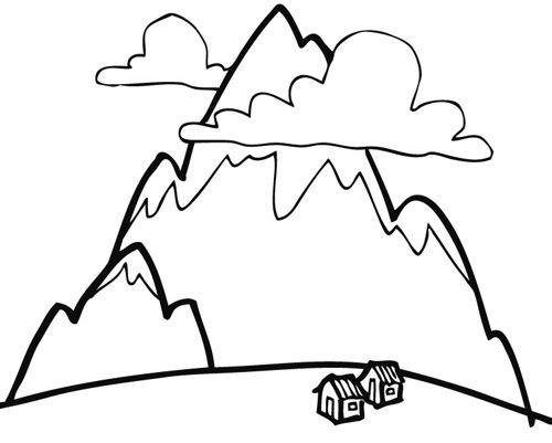 Dibujos de montañas para imprimir y pintar | Colorear imágenes ...