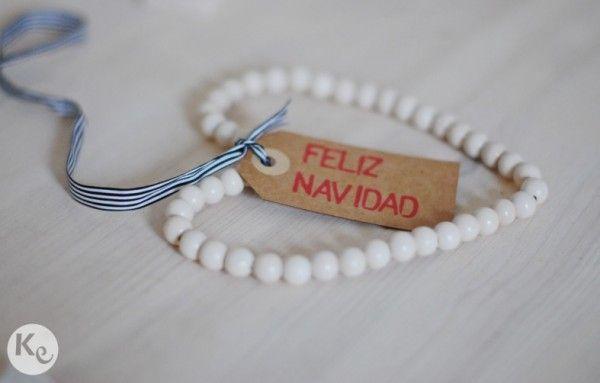 DIY. Wood beads heart #christmas #decor #ornament