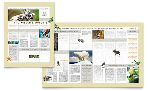 Nature & Wildlife Conservation Newsletter Template by ...