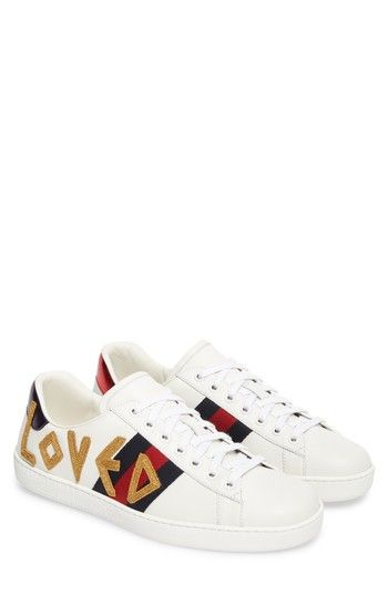 4c31314875d GUCCI NEW ACE LOVED SNEAKER.  gucci  shoes