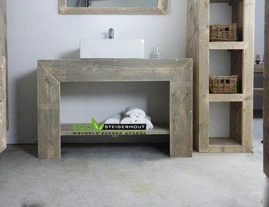 Badkamermeubel Van Steigerhout : Steigerhouten meubelen badkamer de steigerhout fabriek