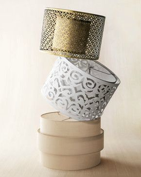 Cut Out Metal Laser Drum And Art Deco Lamp Shades Contemporary