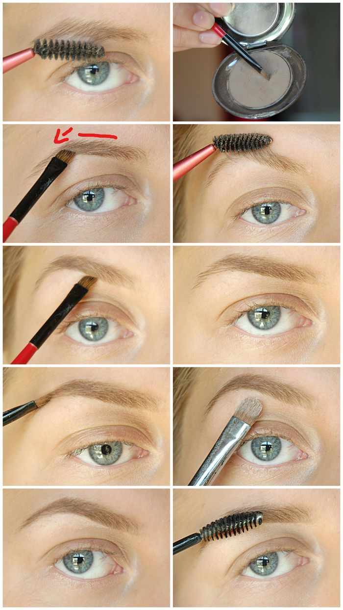 How to fill in your eyebrows to achieve a natural ...