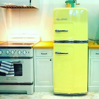 This 24 Fridge Adds Colorful, Retro Style to Tiny Kitchens. Like all Big Chill retro fridges, the exterior is made of stamped metal and the accents are real chrome.