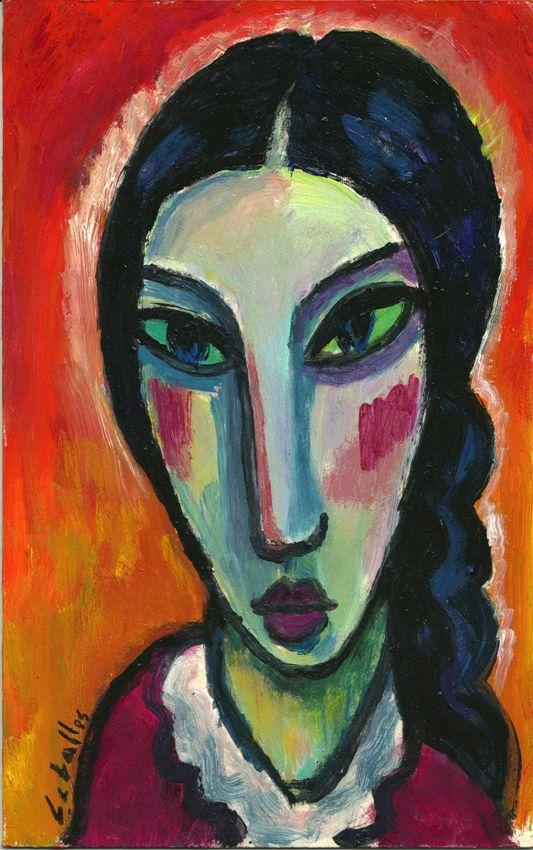 Jawlensky Mystical Head 9 X 12 Inch Needlepoint Canvas