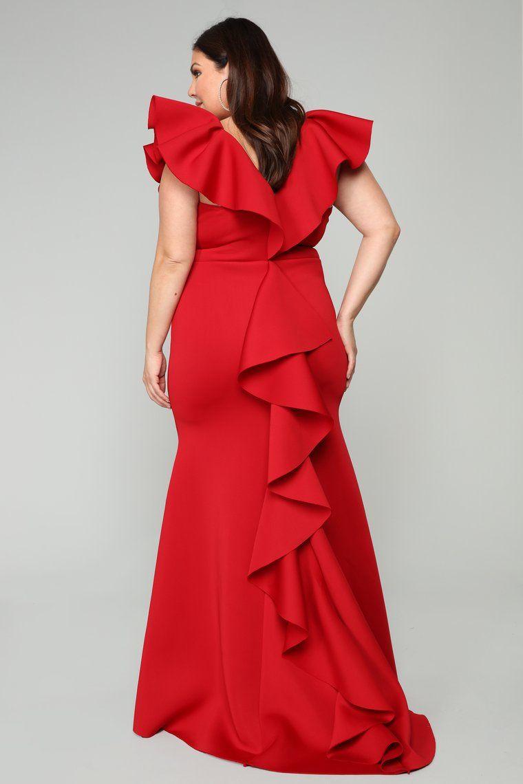 247cd7357 Salty Babe Mermaid Dress - Red in 2019 | Fashion Nova White ...