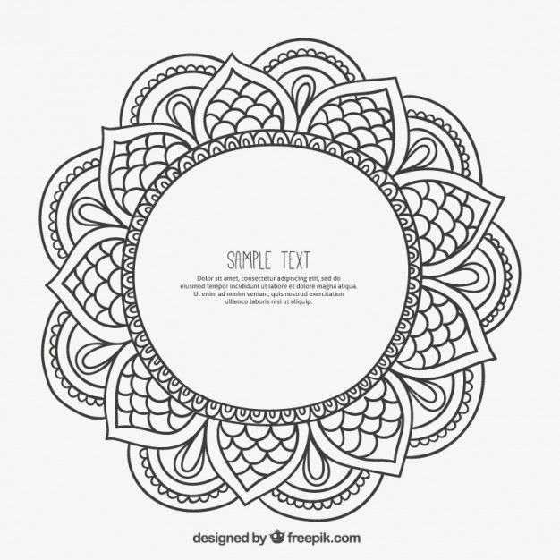 Armature en style mandala | Vector free download, Photos and Graphics