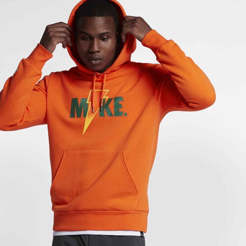 innovative design d7e50 8be30 Jordan Sportswear Like Mike Fleece Men s Hoodie, by Nike Size Medium  (Orange)