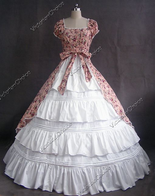 Colonial Cosplay Lolita Dress Ball Gown Prom Reenactment | Civil War ...