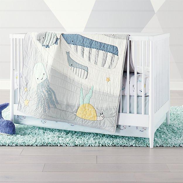 Sea Baby Quilt Nursery Crib Bedding, Baby Bedding Under The Sea