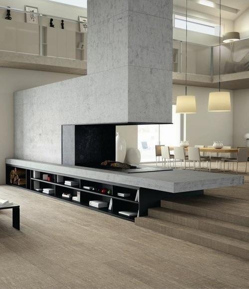 Cheminée beton Idéer för hemmet Pinterest Feuerstellen - offene feuerstelle wohnzimmer