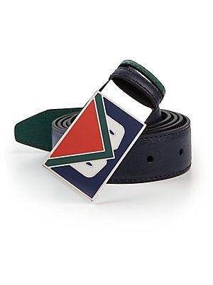 17271e353e9 Fendi Monster Buckle Reversible Leather Belt