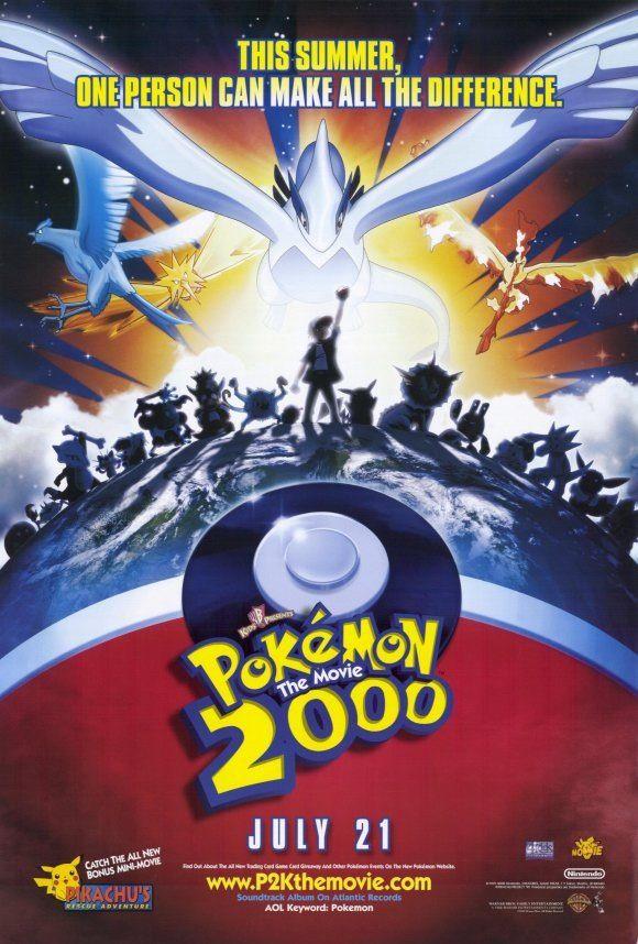 Pokemon 2000 Movie Poster Pokemon Movies Pokemon 2000 Pokemon