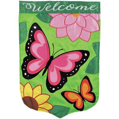 Carson Home Accents Bountiful Butterflies 2 Sided 400 x 300