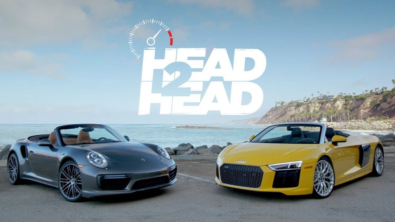 2017 Audi R8 V10 Spyder vs 2017 Porsche Turbo Cabriolet this