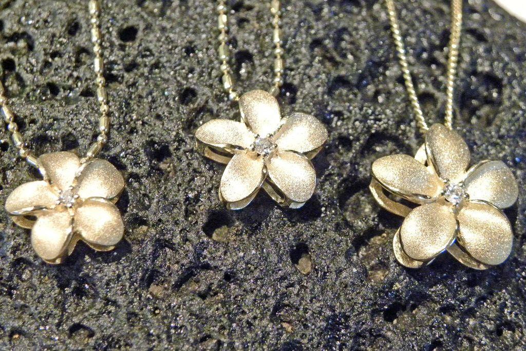 Plumeria Slide Pendant Hanalei kauai Jewel and Pendants