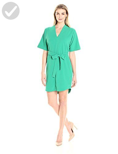 Lark & Ro Women's Dresses Kimono-Sleeve Crepe Shift, Green, M - All about women (*Amazon Partner-Link)