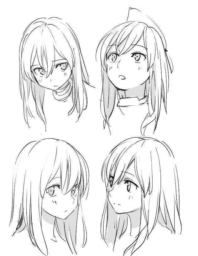 Anime Drawings In 2020 Anime Head Manga Drawing Tutorials Anime Poses Reference