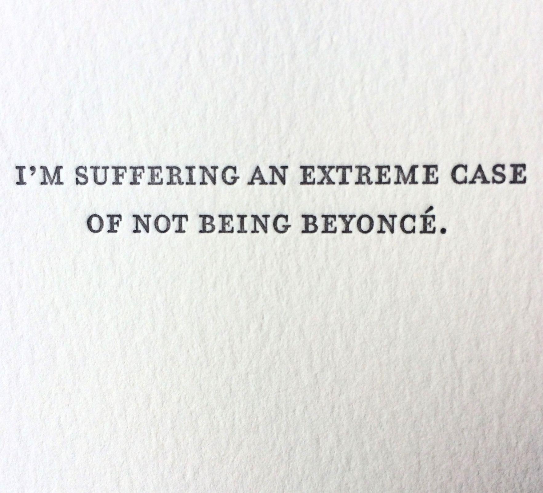 Beyonce Letterpress Card Laugh Out Loud