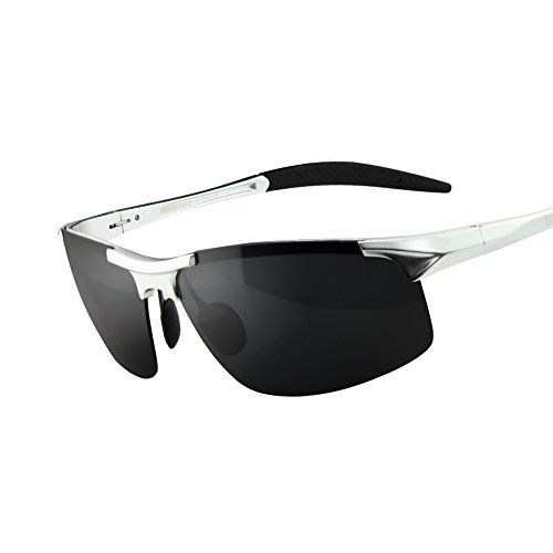 e83b9333a3e Duco Mens Sports Style Polarized Sunglasses Driver Glasses 8177S Silver  Frame Gray Lens     Details can be found by clicking on the image.