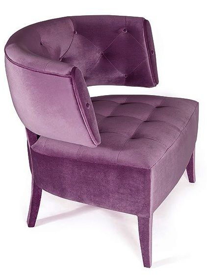 Armchairs, Italian Luxury Designer Purple Armchair, So Elegant
