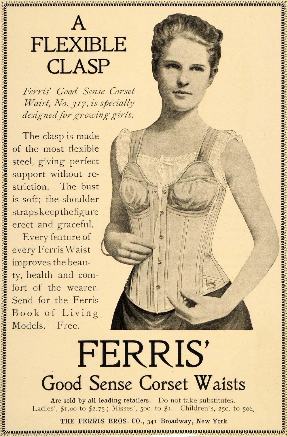 49e8f24371f11 1900 Ad Ferris Corset Waist Clothing Fashion No 317 - ORIGINAL ...