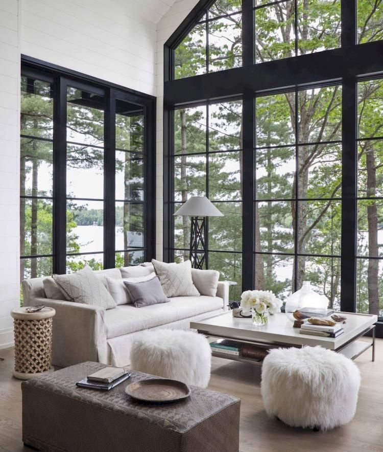 60 Cozy Farmhouse Living Room Makeover Decor Ideas ...