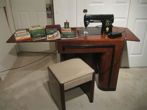Vintage Singer 301 Heavy Duty Sewing Machine Table/cabinet, Manual ...