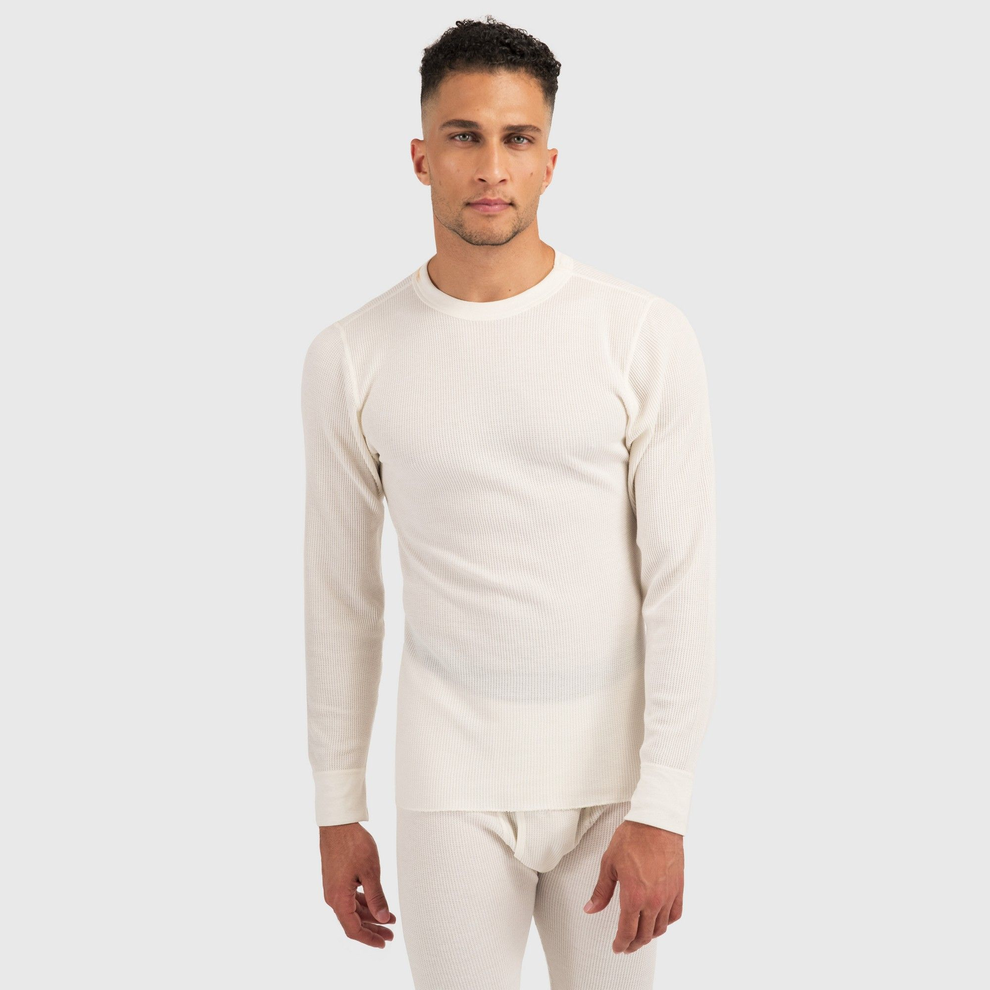 Hanes Premium Men S Xtemp With Fresh Iq Thermal T Shirt Ecru 2xl