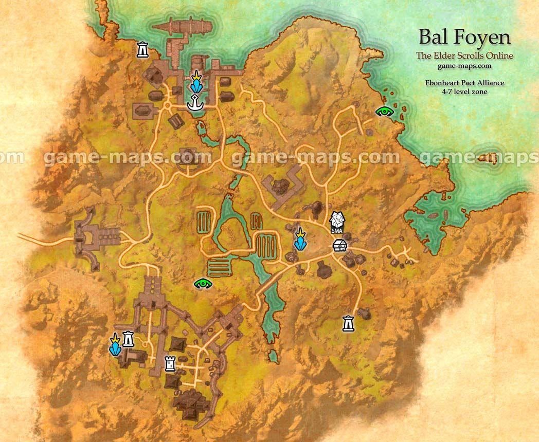 Bal Foyen zone map Coastal city in Ebonheart Pact Alliance near