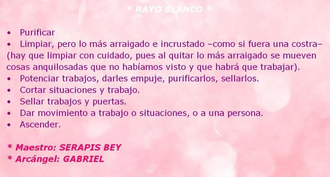 ♪ Rayo Blanco.