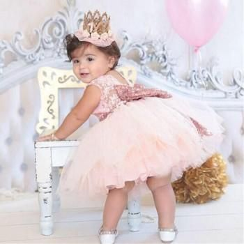 895b219b4 Baby   Girl s Floral Lace Bow-Accent Tutu Princess Dress