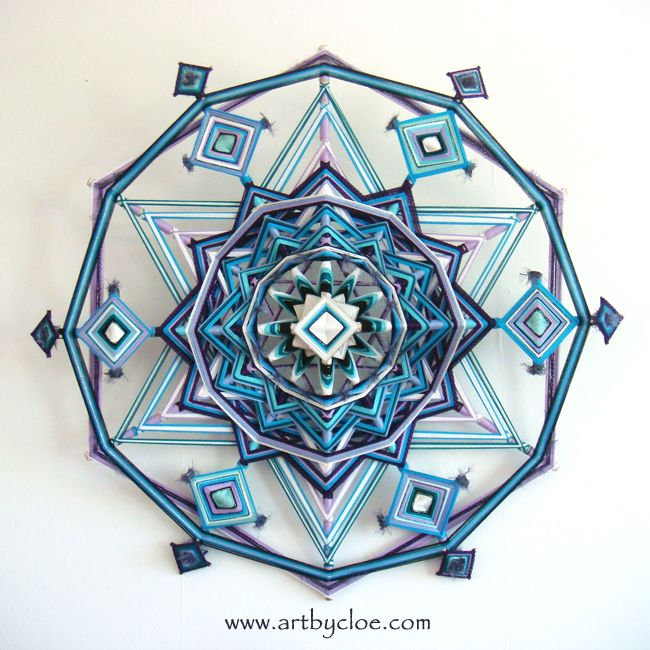 ~* Cloe Collette *~ The healing art of woven mandalas.  These are beautiful!!!!
