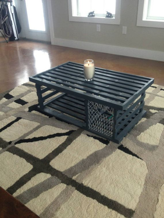 Military table rustic coffee table shadow box coffee table