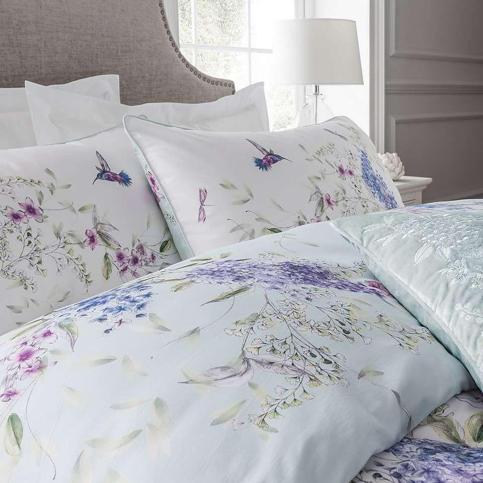 Dorma Emalia White 100 Cotton Reversible Duvet Cover Dunelm Purple Bedding Bedding Sets King Size Bedding Sets