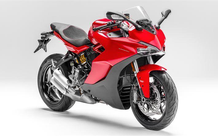 Download wallpapers Ducati SuperSport S 2017 red Ducati sport