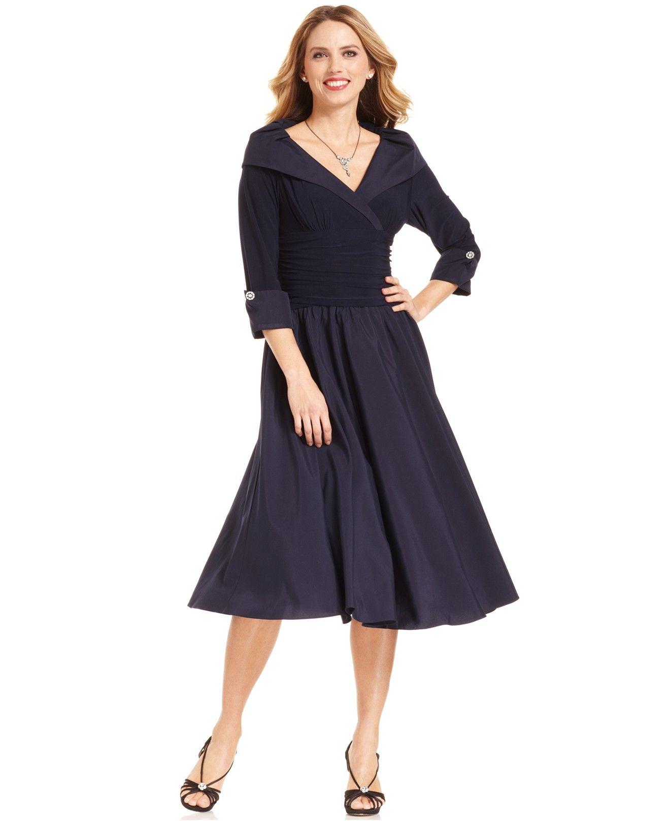 Portrait-Collar A-Line Dress
