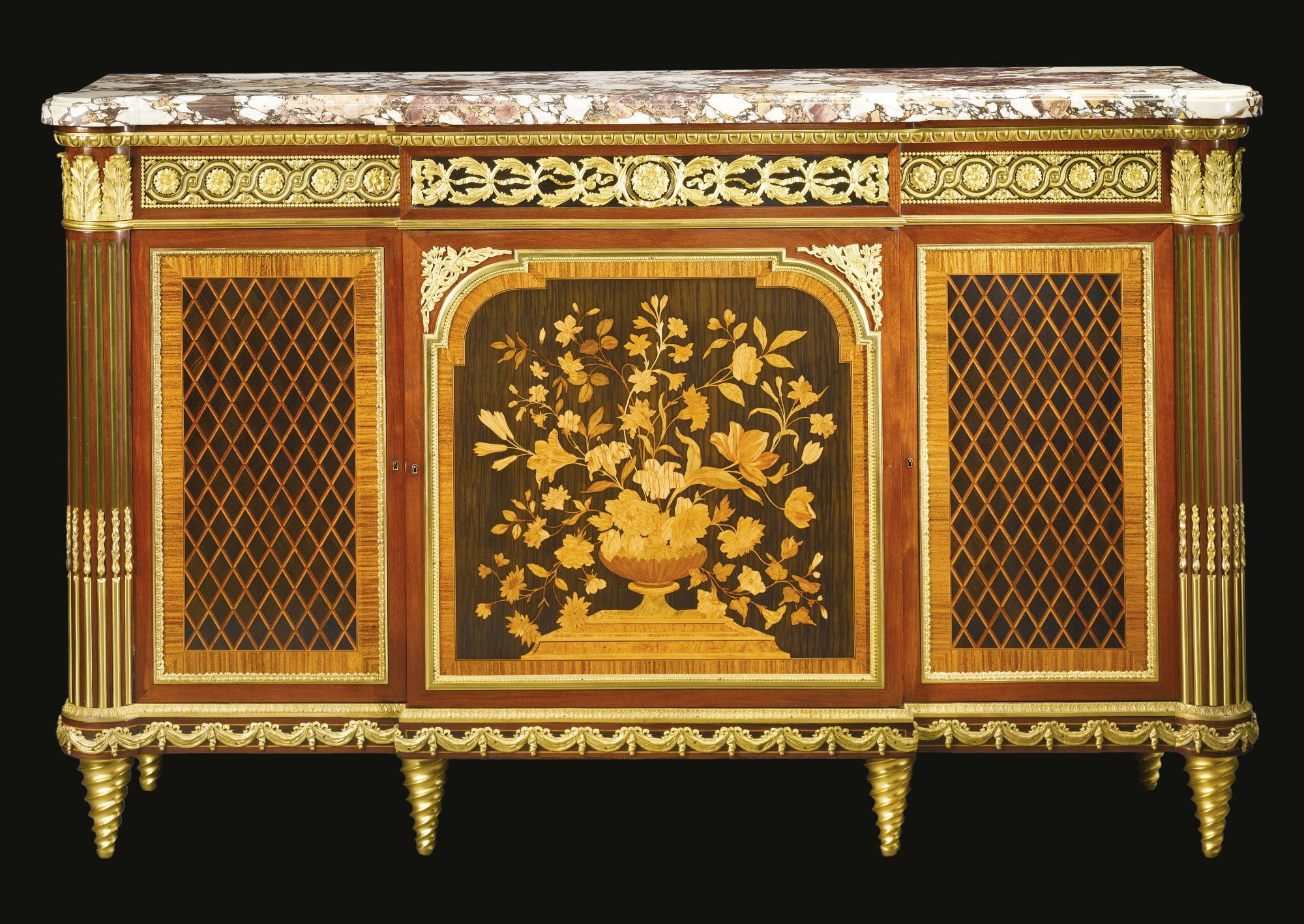 Meuble Louis 16 A Fine Louis Xvi Style Gilt Bronze Mounted Mahogany Ebony