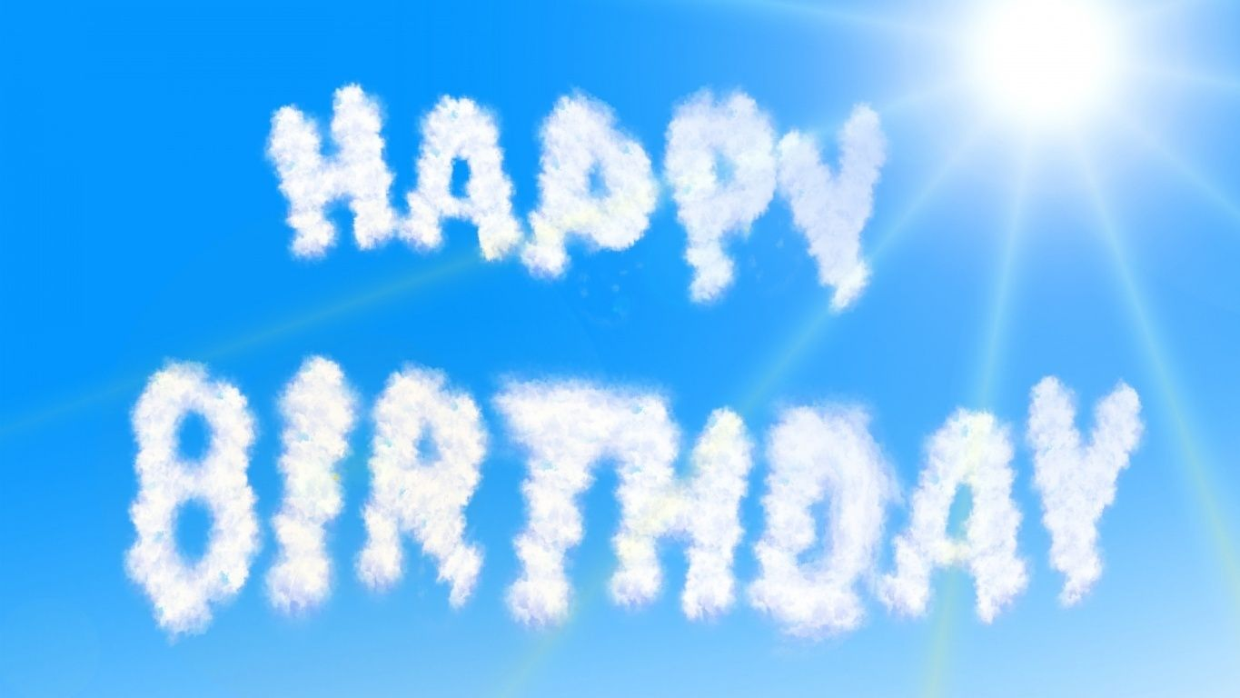 Happy birthday clouds hd wallpaper Geburtstag Pinterest