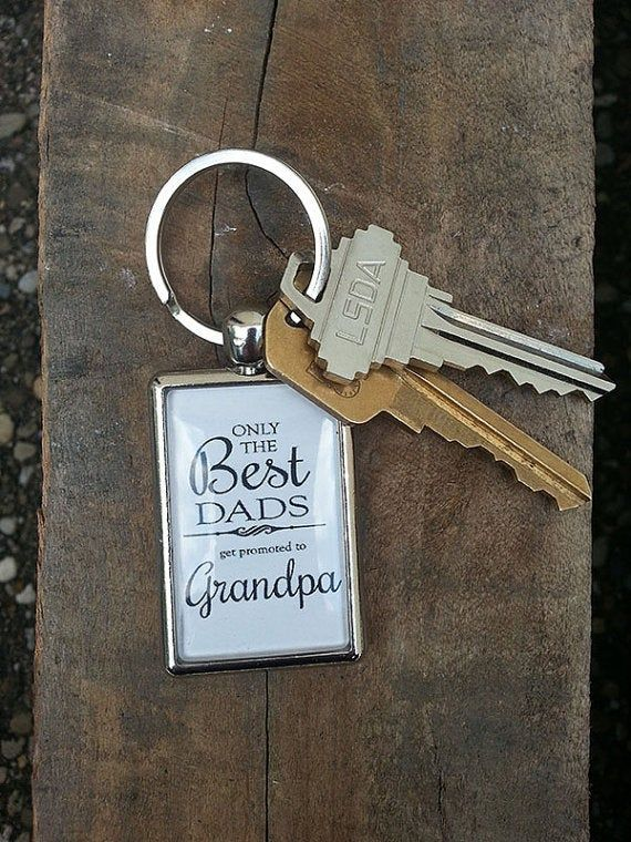 Grandpa Keychain, Only the best Dads get promoted to Grandpa, Birthday Gift for Grandpa, Christmas #grandpagifts