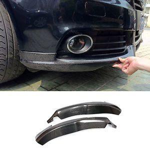 Carbon Fiber Front Splitters Winglets Lip Fit For Audi A4 B8 Non