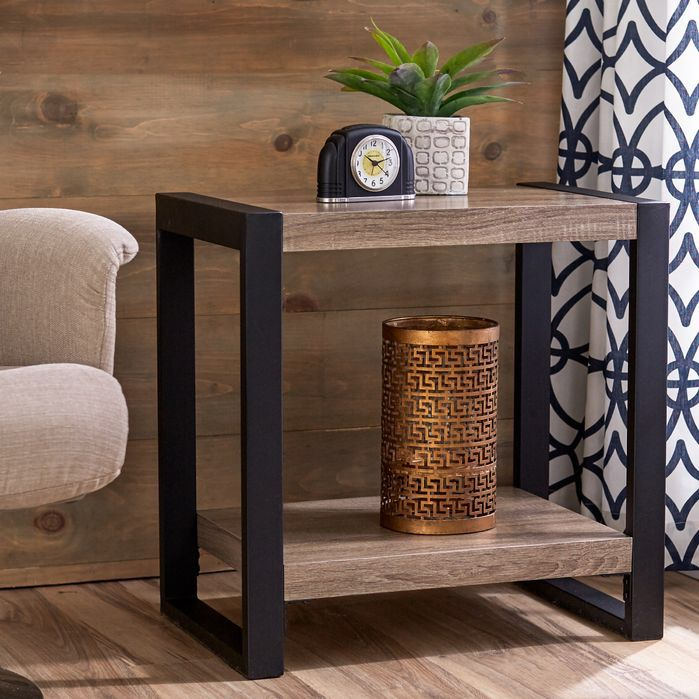 Theodulus Sled End Table With Storage End Tables African Decor Bedroom End Tables With Storage