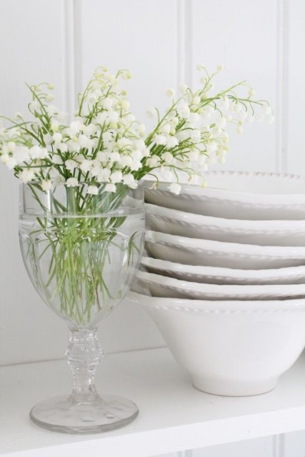 Snowdrops add a touch of glamour and blends in with White