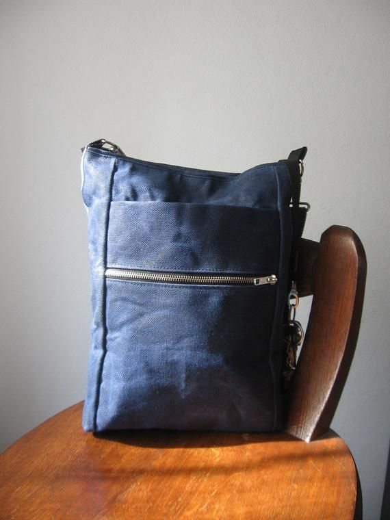 Waxed Canvas Bag Crossbody Outdoors Gift