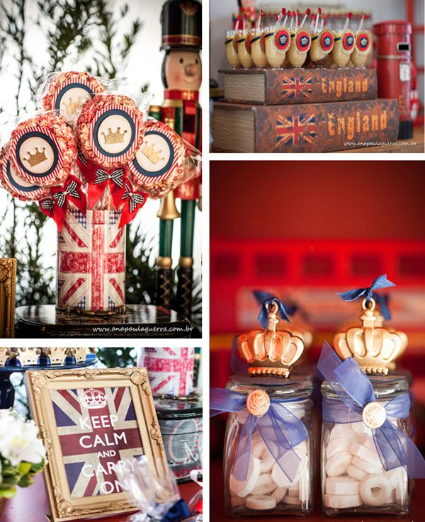 London Themed Birthday Party With So Many Cute Ideas Love All The Union Jack Decor Via Karas