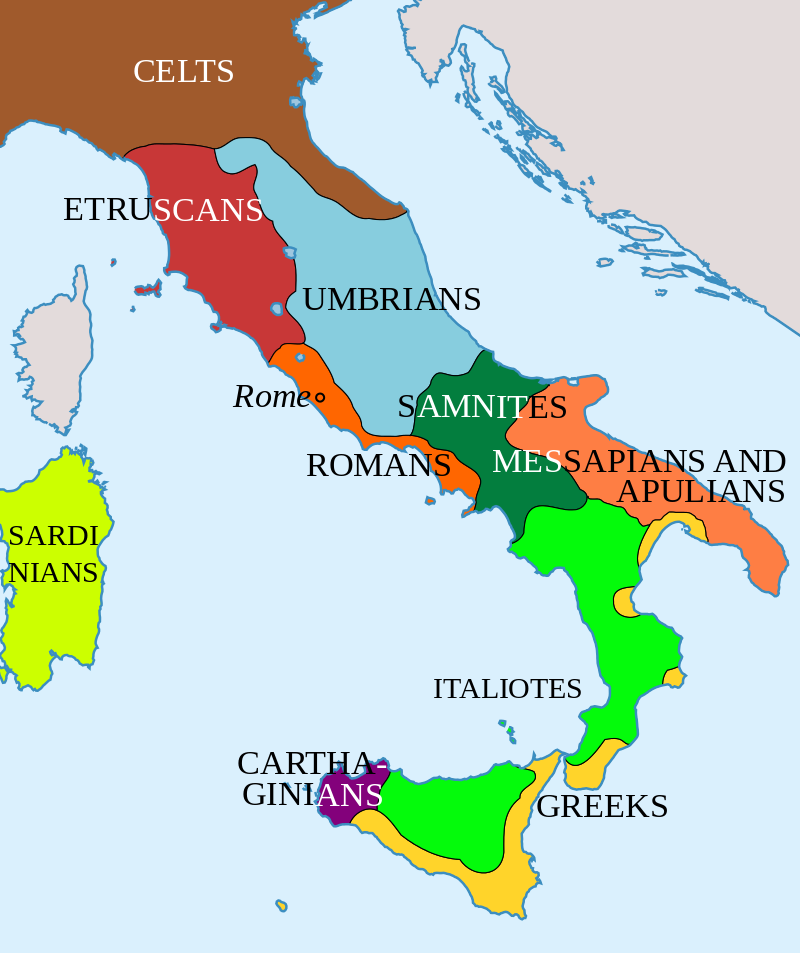 Italy in 400 BC Roman Maps Pinterest